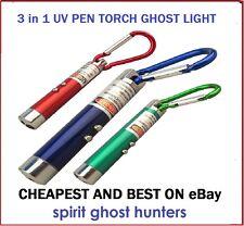 GHOST 3in1 UV MINI LIGHT LASER PEN TORCH KIT EQUIPMENT HUNTING HUNT SPIRITS KIT