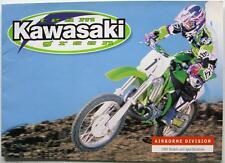 KAWASAKI Team Green Motocross Enduros Range Motorcycle Sales Brochure 1998