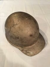Vintage Metal Construction or Miner Hard Hat with Leather Suspension Insert