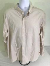Polo Ralph Lauren shirt mens XXL button front off white burgundy stripes L/S