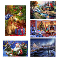 Christmas DIY 5D Diamond Painting Embroidery Cross Crafts Stitch Kit Home Decor