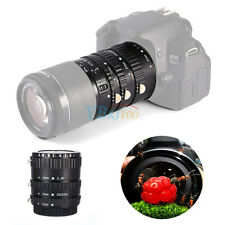 Black Auto Focus AF Macro Extension Tube Set Ring Adapter For Canon EF EF