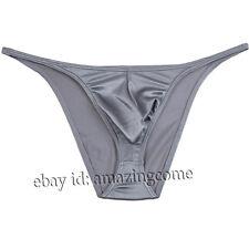 Men Shiny Sexy Micro String Brief Pouch T-back Underwear Male Mini Bikini Pants