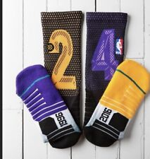 "New Men's NBA Stance Kobe Bryant ""The Final"" Socks Size Large $28 Lakers"