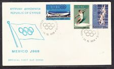 Cyprus 1968 Mexico Olympics  First Day Cover