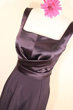 TAHARI BLACK SILK TOP A LINE FLOWING SKIRT DRESS SZ2 DRY CLEANED