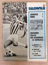 JUVENTUS - ROMA  PROGRAMMA CALCIO FILM 1976 FURINO ALTAFINI CAUSIO GORI POSTER