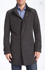 NEW Mens Hugo BOSS The Pander Trench Coat / Jacket in Black - Size UK 40 EUR 50