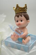 1PC Baby Shower Cake Topper Figurines Boy Blue Recuerdos De Nino Decorations