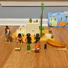 PLAYMOBIL EGYPTIAN PLAYSET LOT Tomb House Camel Figures Accessories VGUC 4246 +