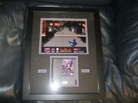 John Berntcal Autographed The Punisher Nintendo Display 16x20 Frame JSA Cert