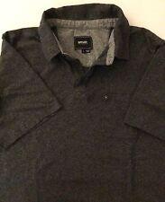 Rip Curl Men's Large Gray Polo Shirt Short Sleeve Surf Company