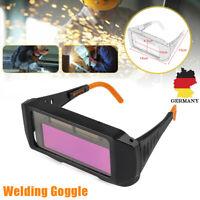 Automatik Schweißerschutzbrille Schweißerbrille Schutzbrille Solar Dunkelpink DE