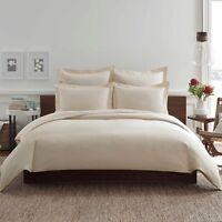 """Real Simple Clip N Zip Solid European Bed Pillow Sham Case Khaki Tan 26"""" x 26"""""""