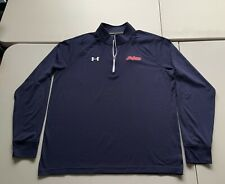 Under Armour Men'S Loose All Season Gear 1/4 Zip Pullover Indians Size Large