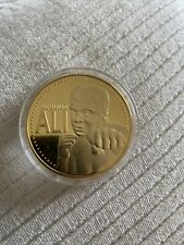 More details for boxing world champion   muhammad ali   century sportsman   gold plated coin