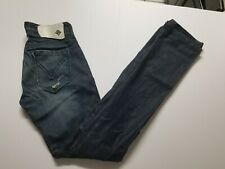 Monarchy Women's Size 25 Blue Dark Denim Jeans Distressed Stretch EUC