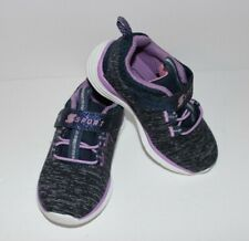 New baby girl toddler shoes Sketchers Sport purple blue size 6 athletic running