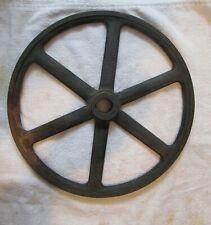 "Vintage Cast Iron 12"" Spoke Cart Wheel Industrial Mercantile"
