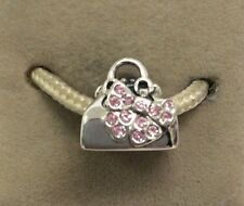 Chamilia Jewelry Minnie Mouse Loves Shopping Pink Swarovski Purse Bead Charm