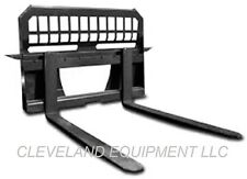 "NEW 48"" PALLET FORKS & FRAME Bobcat Kubota Cat Skid Steer Loader CID ATTACHMENTS"