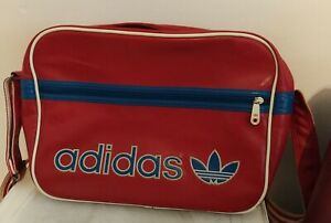 Adidas Red and Blue Satchel Messenger Crossbody Bag Vintage Retro Sport