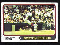 1974 Topps #105 Carlton Fisk Boston Red Sox HOF Baseball Card VG/EX+