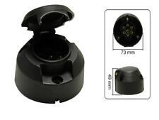 PVC PKW Anhänger STECKDOSE 7-polig 12V LKW Kunststoff schwarz Anhänger Dose KFZ