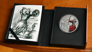 2017 Niue $2 - MONGOLS, Warriors of History series - 1oz .999 silver w/ all OMP