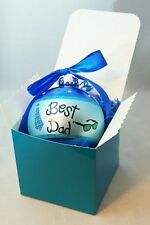 Best Dad Blue Glass Ball Ornament Christmas Gift Stocking Stuffer