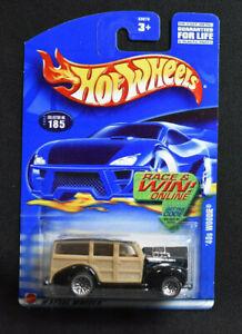 Hot Wheels 2002 #185 '40s Woodie (400) California Classics