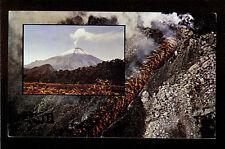 "QSL ""HCJB"" 9.560 MHz Radio Quito Ecuador Mount Sangay Lava Flow DX SWL 1974"