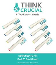 8 Oral-B Replacement Dual Clean Electric Toothbrush Heads, Part # SB-417A