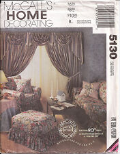 McCalls (5130) Home Decor Sewing Pattern For The Bedroom and Living Room