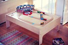 Birch Wood Modern Kids Train Table