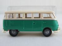 Brekina VW-Samba T1 De Luxe US-Version (1961) in grün/cremeweiß 1:87/H0 NEU/OVP