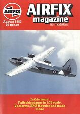 AIRFIX MAGAZINE 1983 AUG FALLSCHIRMJAGER IN 1:35 SCALE, VACFORMS, HMS REPULSE