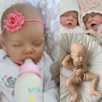 """18"""" Doll Unpainted DIY Doll Accessories Silicone Reborn Baby Doll Kit Cloth Body"""