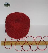100g Red 100% pure British Breed knitting wool yarn 4 ply  Please read carefully