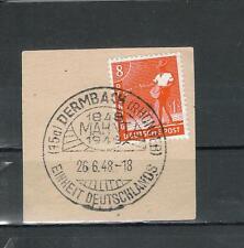 SONDERSTEMPEL Alliierte Besetzung Briefstück Vollstempel DERMBACH ex 943- 962