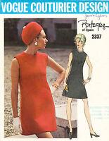1960's VTG VOGUE Couturier Design Misses' Dress by Pertegaz Pattern 2337 Size 12