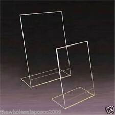 A4 COUNTER POSTER MENU HOLDER ACRYLIC PERSPEX PORTRAIT RETAIL SHOP DISPLAY STAND