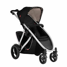 Phil & Teds New Verve V3 Stroller & Double Kit Black Includes Double Seat