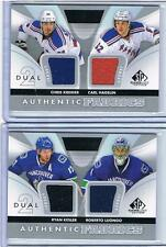 12-13 KESLER/LUONGO UD SP GAME USED AUTHENTIC DUAL FABRICS #AF2-LK CANUCKS