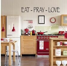 EAT PRAY LOVE WALL ART QUOTE WORDS HOME DECAL VINYL LETTERING KITCHEN RELIGIOUS