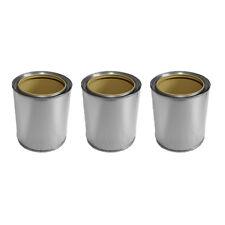 3 lattine per combustione gel fatte di latta 0,5 l per bio etanolo + coperchio