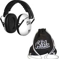 WHITE KID CHILDS EAR DEFENDER EARMUFF PROTECTION BABY + FREE BLACK BAG