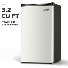 3.2 CU FT Mini Refrigerator Compact Fridge Freezer Stainless Steel Freestanding