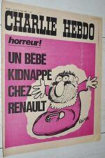 CHARLIE HEBDO N°69 13/03 1972 WOLINSKI CAVANNA CHORON REISER GEBE CABU WILLEM