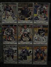 2001-02 DEL 01/02 Goalies komplett 29 Karten Teamset Torhüter Upper Deck